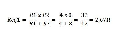 associação resistores mista 1.1 - Exercício associação de resistores mistos