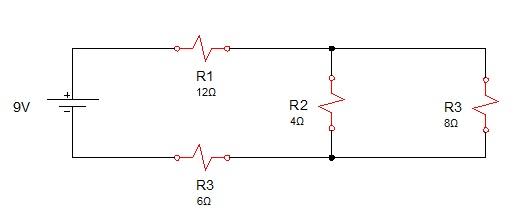 associação resistores mista 1 - Exercício associação de resistores mistos