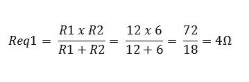 associação resistores paralelo 1.1 - Exercício associação de resistores em paralelo