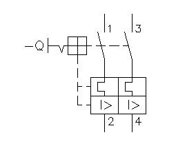 disjuntor bipolar simbologia - O que é um disjuntor termomagnético?