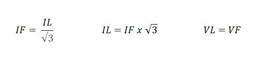 fórmula fechamento triângulo motor - Fechamentos de motores elétricos trifásicos