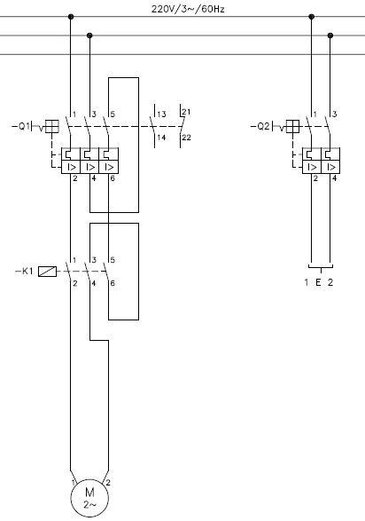 força - Comando para boia de nível elétrica